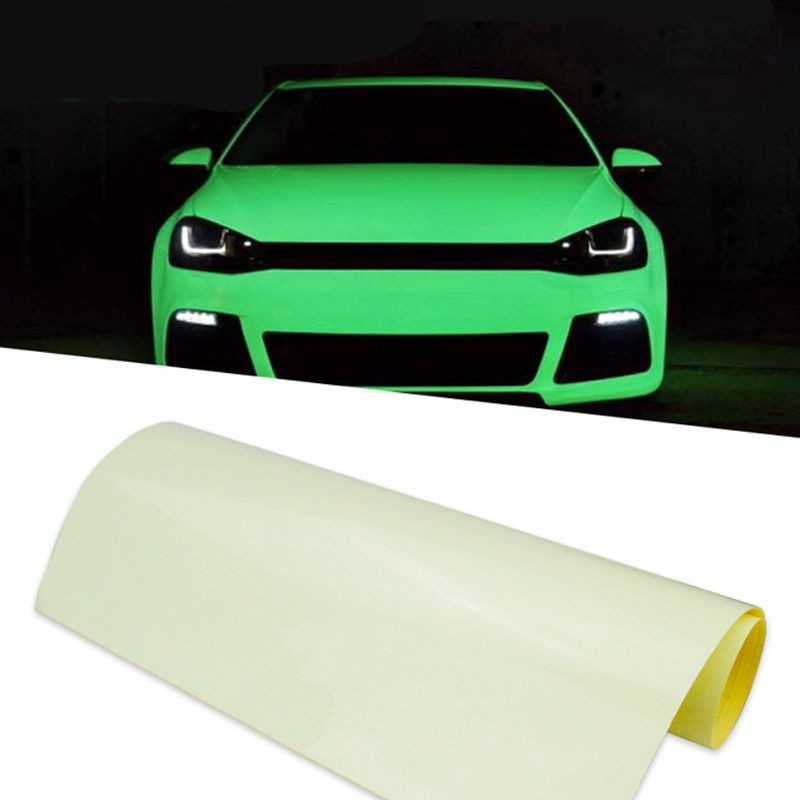 Folie auto fosforescenta, 1mp, autoadeziva, vinil, lumineaza verde