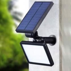 Reflector cu incarcare solara, 48 LED-uri SMD, 4 moduri, IP54, unghi reglabil 90 grade, 200lm