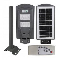 Lampa solara iluminat stradal, LED-uri SMD 40W, senzor miscare, control telecomanda, timer, 3 moduri