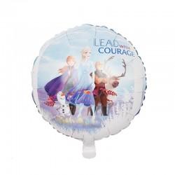 Balon Frozen Elsa, folie aluminiu, diametru 45 cm, pentru aer sau heliu