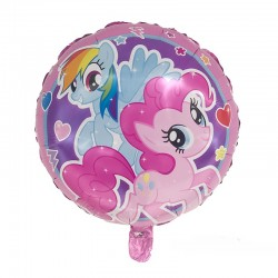 Balon My Little Pony, rotund diametru 45 cm, din folie, pentru umplere aer sau heliu