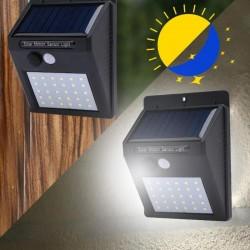 Aplica 20 LED-uri SMD 3W, incarcare solara, flux luminos 200lm, 1200mAh, alb rece