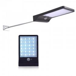 Lampa solara slim, 36 LED-uri SMD 5W, senzor de miscare IR, 3 moduri, 2000mAh, 300lm, alb rece