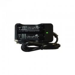 Incarcator dublu cu 2 acumulatori Li-ion 18650 inclusi, indicator LED, oprire automata