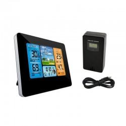 Statie meteo digitala wireless, senzor extern, ecran LCD, higrometru, ceas cu alarma, calendar