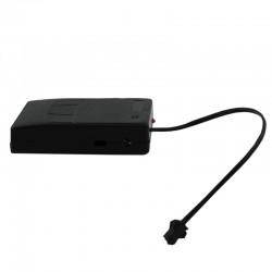Invertor portabil fir El Wire, 0-20 metri, 3 moduri iluminare, alimentare baterii