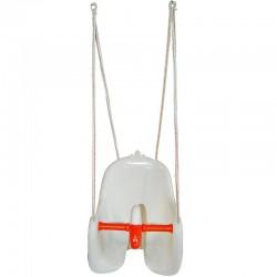 Leagan cu spatar pentru copii, model lebada, franghie suspendare, maxim 25kg, alb