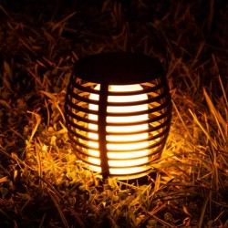 Torta solara decorativa LED, efect flacara reala, 1700K, inaltime 25 cm, IP44, 3 moduri utilizare