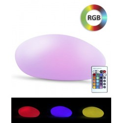 Piatra solara iluminata LED RGB, 7 culori, 4 moduri iluminare, telecomanda, protectie IP67, tarus fixare