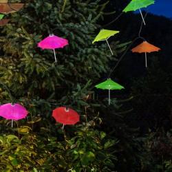 Ghirlanda decorativa Umbrele LED, lungime 1.8 m, 2 moduri iluminare, multicolora, exterior, IP44
