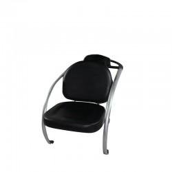 Scaun pentru scafa coafor, material lavabil, manere cromate