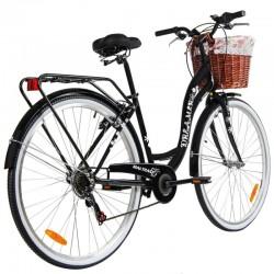 Bicicleta de dama, 6 viteze, fara bara, 28 inch, cos ratan, city bike