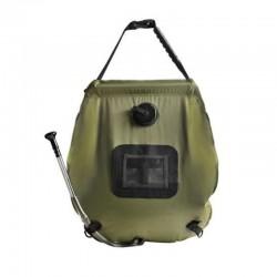 Dus solar portabil pentru camping, capacitate 20 litri, termometru, buzunar dublu