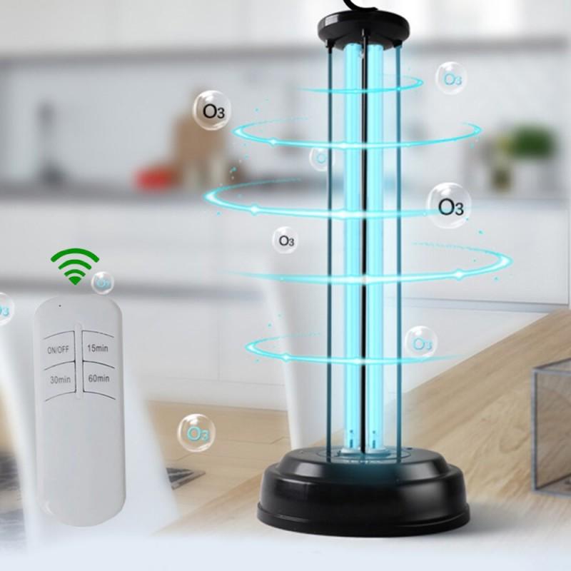 Lampa UVC bactericida cu ozon, 36W, cu telecomanda si temporizator, sterilizare suprafata 36 mp si aer