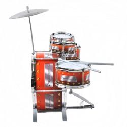 Set 5 tobe pentru copii, Jazz Drum cu chimval, scaunel inclus si bete