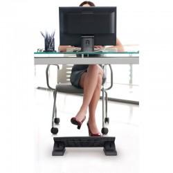 Suport ergonomic pentru picioare, ajustabil, 45x35cm, culoare negru