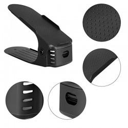Organizator pantofi, inaltime reglabila pe 3 nivele, suport incaltaminte, negru