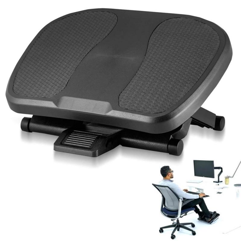 Suport ergonomic reglabil pentru picioare, antiderapant, inclinare 30 grade, 3 trepte inaltime