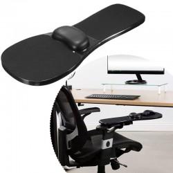 Suport ergonomic pentru brat cu mousepad gel, pentru scaun sau birou, unghi reglabil