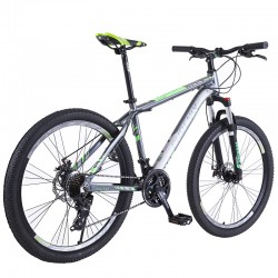 "Bicicleta Mountain Bike, cadru aluminiu 26"", roti 26 inch, 21 viteze, schimbator Shimano, suspensii furca, frane disc, PHOENIX"