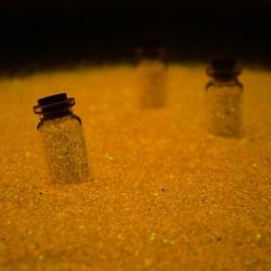 Nisip decorativ orange fosforescent