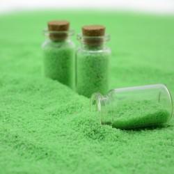 Nisip decorativ verde deschis fosforescent