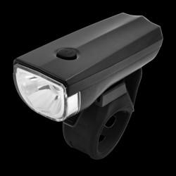Far bicicleta LED 1W, 3 moduri iluminare, alimentare baterii AA