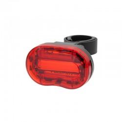 Stop LED rosu 0.5W pentru bicicleta, 3 moduri iluminare, alimentare baterii AAA