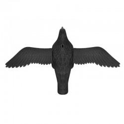 Sperietoare Corb pentru alungarea porumbeilor, pasarilor, carlig agatare, 61x38.5 cm, negru