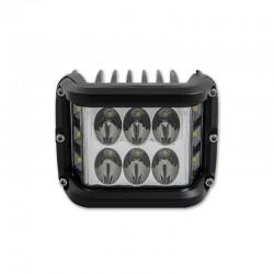 Proiector LED SMD auto offroad 36W, 10-60 V DC, 4300 lm, IP 67, flood beam 180 grade, tija suspendare, aluminiu