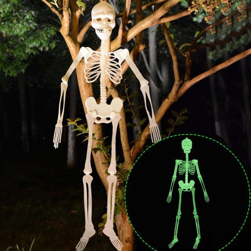 Schelet fosforescent inaltime 150 cm, lumineaza intens in intuneric, decor Halloween