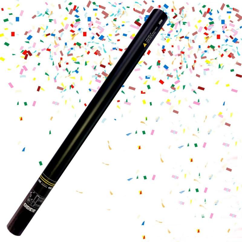 Tun electric confetti multicolore, lungime 80 cm, accesoriu petrecere