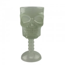Pahar luminos tip craniu, efect fosforescent lumineaza verde, pentru petrecere Halloween