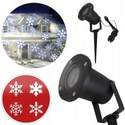 Proiector LED cu fulgi de zapada in miscare, pentru exterior si interior, IP44, structura aluminiu