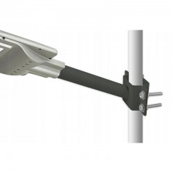 Suport tip brat sustinere lampi stradale, prindere perete sau stalp, otel, diametru 37 mm