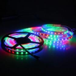 Banda LED auto ambientala, RGB, 12V, lungime 5 m, 14.4W/m, IP65