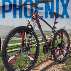 "Bicicleta MTB Tornado, roti 26 inch, 21 viteze, schimbator Shimano, cadru otel 17"", suspensii furca, frane disc, Phoenix"