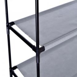 Raft organizator incaltaminte 50 perechi, 10 nivele, cadru metalic, 100x28x175 cm