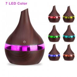 Difuzor aromaterapie, umidificare, 2W, 300 ml, iluminat LED 7 culori, uleiuri parfumate, reincarcabil USB
