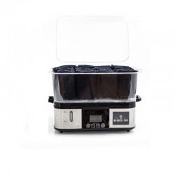 Sterilizator prosoape cu aburi, 750W, display LCD, 2 functii, volum 2.4 L