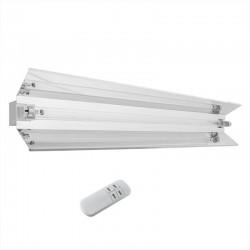 Lampa bactericida UVC orientabila 55W cu reflector, control telecomanda cu temporizator fixare perete
