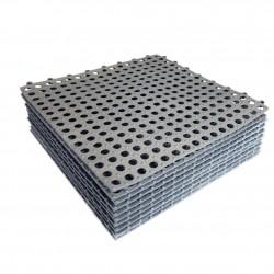Covor antiderapant pentru baie, tip puzzle, 30x30 cm, grosime 2 mm, set 10 bucati