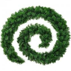 Ghirlanda decorativa Luxury Pine din crengi de brad artificial, lungime 5.4 m, ace 3D, decor Craciun