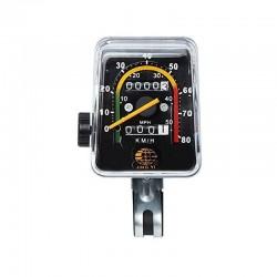 Kilometraj mecanic pentru bicicleta, vitezometru resetabil analog, cablu transmisie