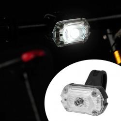 Far LED bicicleta, reincarcabil USB 700 mAh, 65 lm, 3 moduri iluminare, IPX4