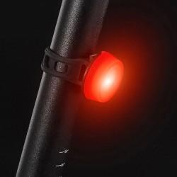 Stop LED bicicleta, 15 lm, 2 moduri iluminare, alimentare baterii CR2032