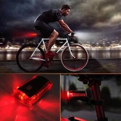 Stop LED pentru bicicleta, vizibilitate 100 m, alimentare baterii, unghi 270 grade, IPX4