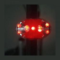Stop 9 LED-uri pentru bicicleta, 3 moduri iluminare, alimentare baterii AAA