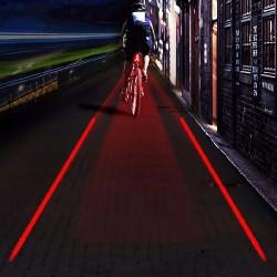 Stop 5 LED-uri pentru bicicleta, proiectie laser culoar siguranta, alimentare baterii AAA