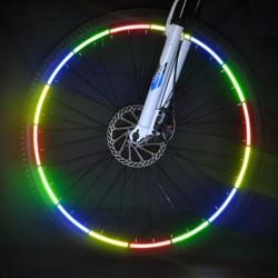 Banda reflectorizanta autoadeziva, pentru biciclete, 20.5x0.8 cm, siguranta si vizibilitate